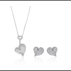 Rhodium Plated Over 925 Sterling Silver Gift Set